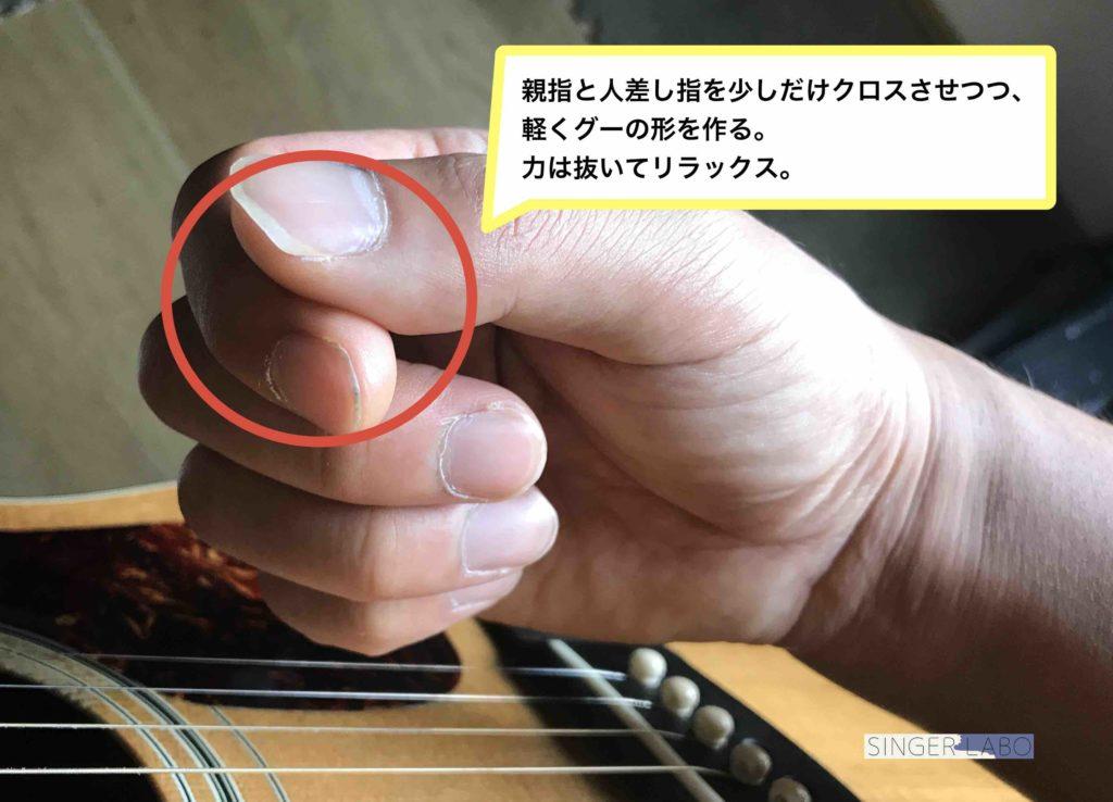 指弾き基礎奏法②: フィンガーストローク