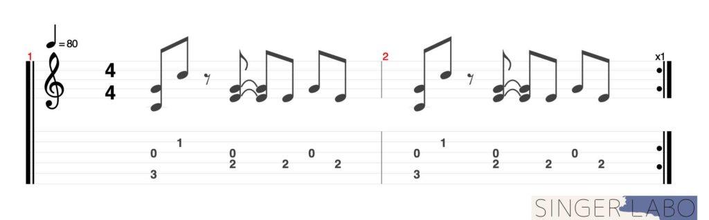 指弾き基礎奏法②: フォーフィンガー