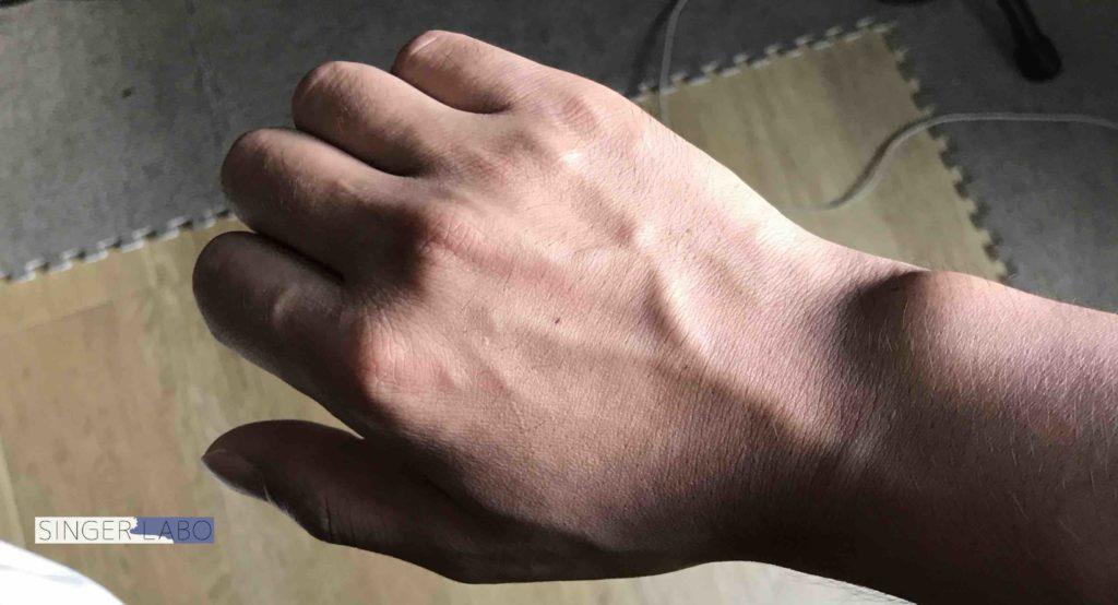 指弾き手順②: 右手は猫手をイメージ