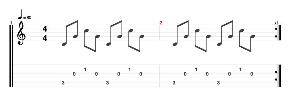 指弾き基礎奏法①: スリーフィンガー